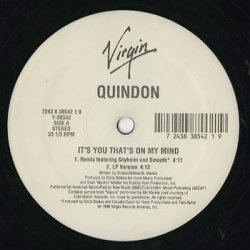 "画像2: Quindon / It's You That's On My Mind (12"")"
