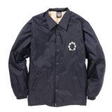 """TAMBOURINE"" NYLON COACH JACKET (NAVY)"
