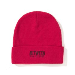 画像1: BETWEEN MUSIC STORE LOGO BEANIE (RED)